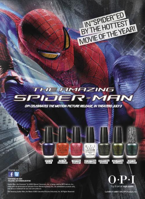 Spiderman nail polish by OPI