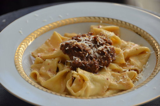 Pappardelle with Short Rib Chili in Chipotle Cream Sauce