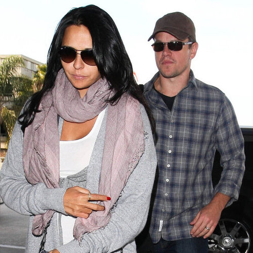Matt and Luciana Damon Leaving LAX Pictures