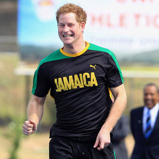 Prince Harry Racing Usain Bolt Pictures in Jamaica