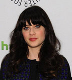 Zooey Deschanel's blue eyes were hard to miss.
