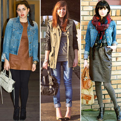 Styling Tip: Mix Leather and Denim