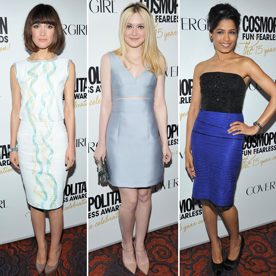 Rose Byrne, Dakota Fanning, Freida Pinto Frock Up for Cosmopolitan's Fun and Fearless Event: Who Was Best Dressed?