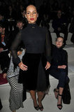 Alicia Keys wore all black to Valentino.