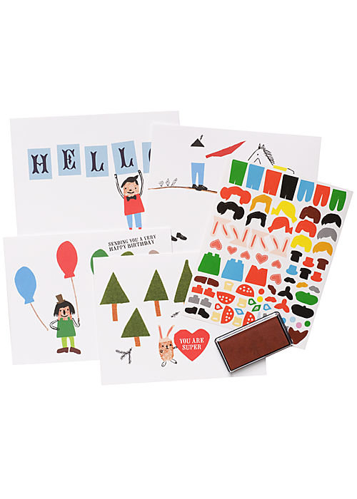Tiny thumbs can personalize their own thank you notes with Paper Source's thumbprint note cards ($17 for a set of 20). Each card features a scene to get their creative juices flowing, then kids can add thumbprint people by inking their little fingers and decorating with the included stickers.