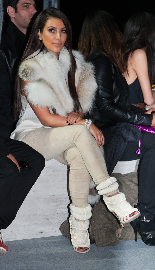 Kim Kardashian was front row at Kanye West's show.