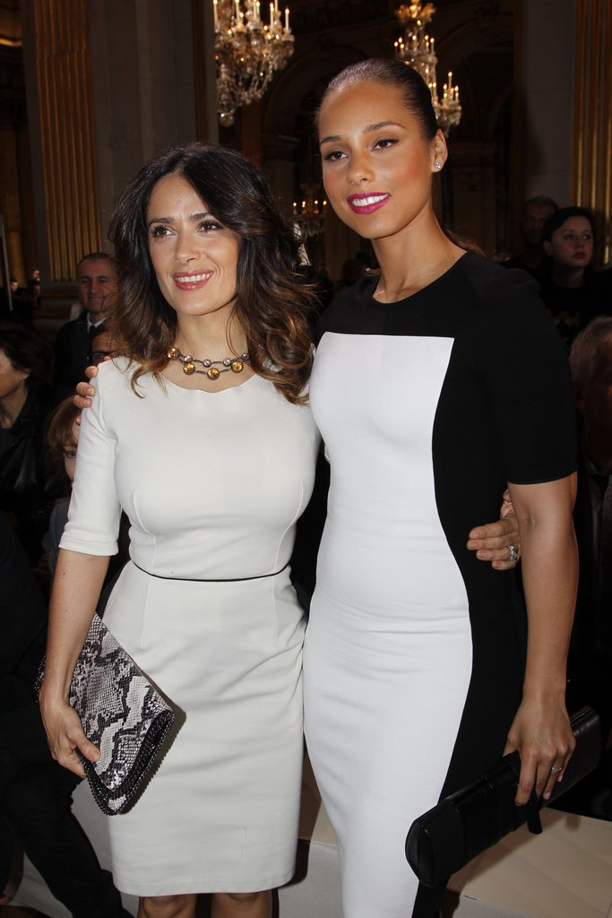 Salma Hayek posed with Alicia Keys at Stella McCartney.