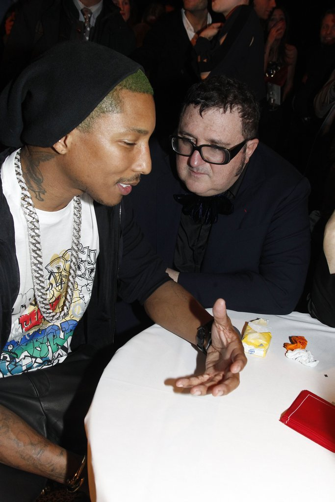 Pharrell Williams said hi to Lanvin's Alber Elbaz.