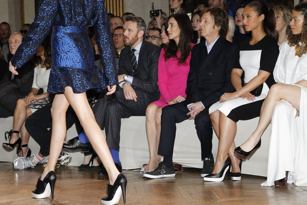 Paul McCartney and Nancy Shevell sat with Alicia Keys at Stella McCartney.