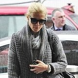 Gwyneth Paltrow traveling out of London.