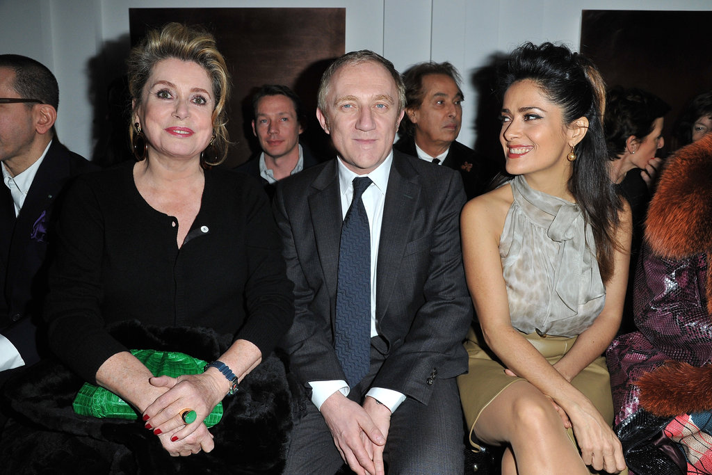 Catherine Deneuve, Francois-Henri Pinault, and Salma Hayek went to YSL.