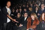 Pharrell Williams said hello to Anna Wintour.