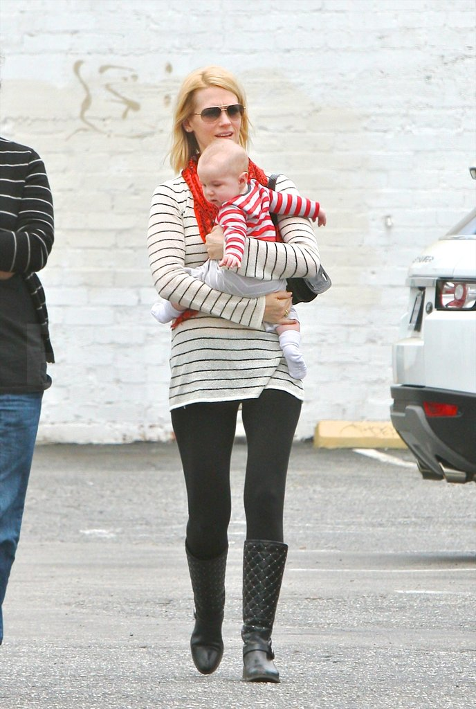 January Jones's son Xander Jones.