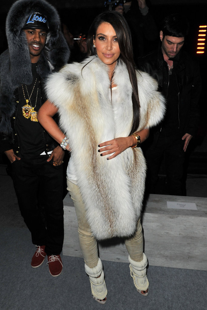 Kim Kardashian wore Kanye West to Kanye West's March 2012 show.