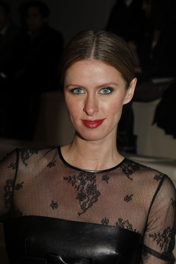 Nicky Hilton posed at Valentino.