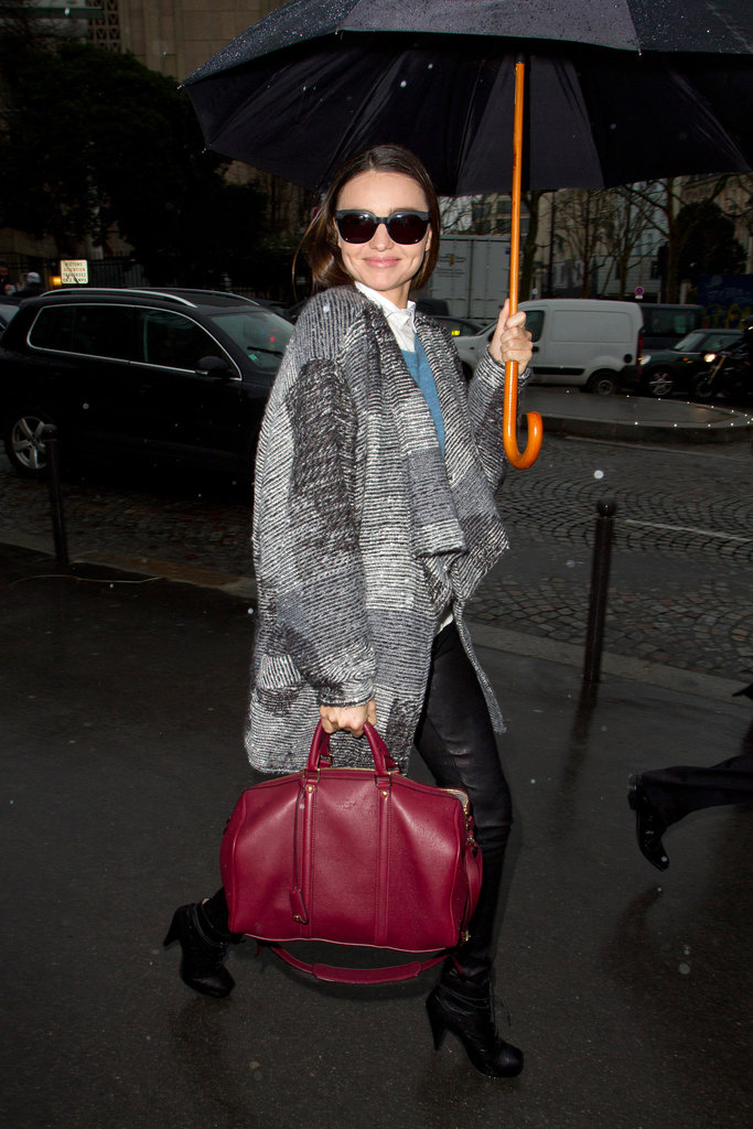 Miranda Kerr smiled in Paris.