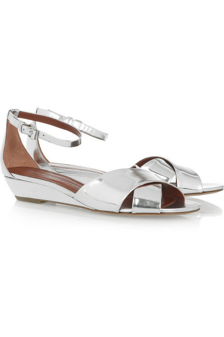 Marc by Marc Jacobs Metallic Mirrored Leather Wedges ($260)