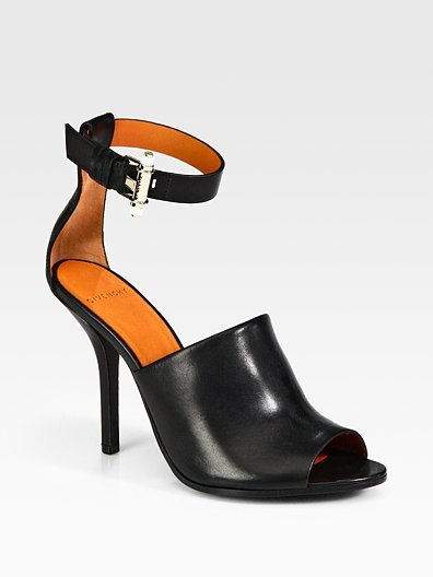 Givenchy Vittorias Leather Ankle-Strap Sandals ($795)
