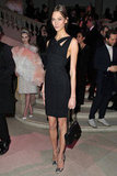 Karlie Kloss opted for minimalist chic in this cutout LBD.