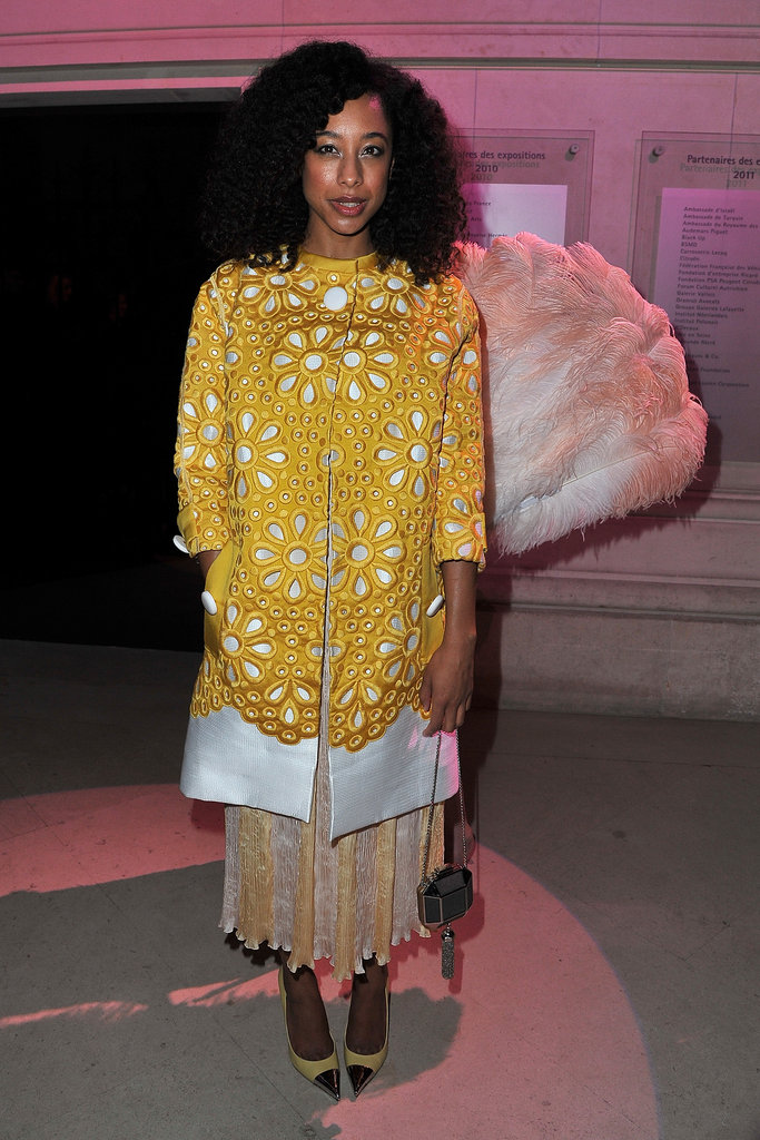 Corinne Bailey Rae went with a colorful daisy-cutout look, which totally brightened up the evening.