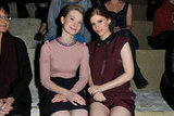 Mia Wasikowska and Kate Mara at Miu Miu