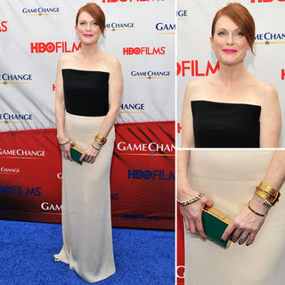 Julianne Moore White Maxi Skirt