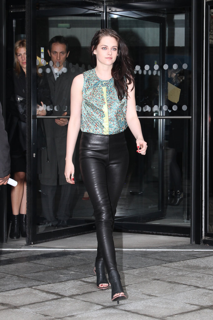 Kristen Stewart went to the Balenciaga show.