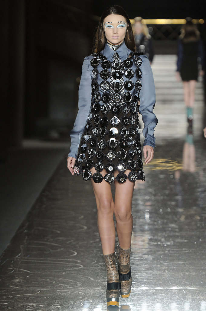 Miranda Kerr walked in Miu Miu.