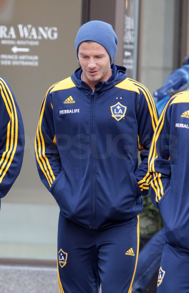 David Beckham checked out Toronto.
