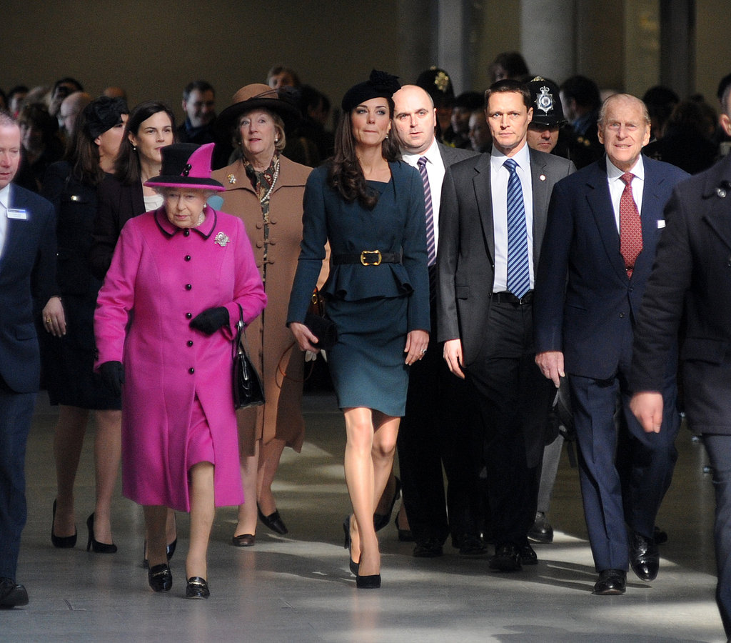 Kate Middleton, Queen Elizabeth, and Prince Philip headed to Leicester.