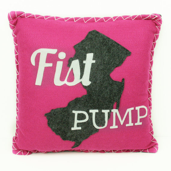 Fist Pump New Jersey Eco Felt Pillow ($52)