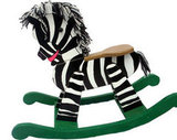 Wooden Rocking Zebra ($179)