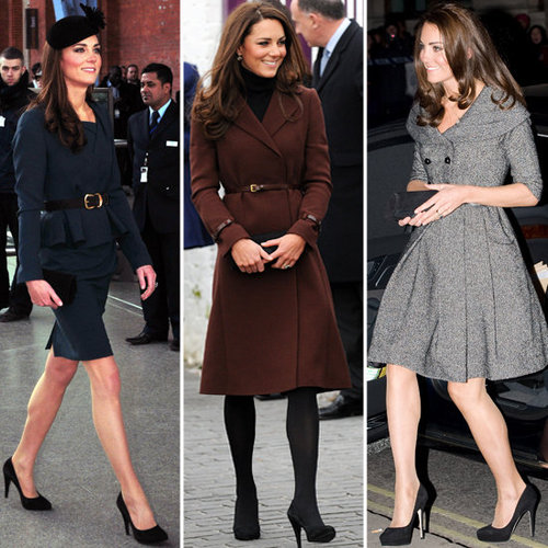Princess Catherine Loves Her Black Court Shoes