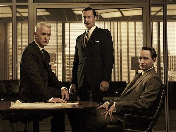 Roger Sterling, Don Draper, and Pete Campbell