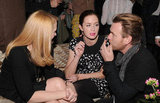Emily Blunt chatted with Ewan McGregor and Patricia Clarkson.