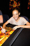 Amandla Stenberg also signed autographs for fans.