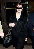 Emma Watson wore shades at LAX.