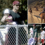 The Beckhams Play in LA With Cute Baby Harper, Brooklyn, and Romeo