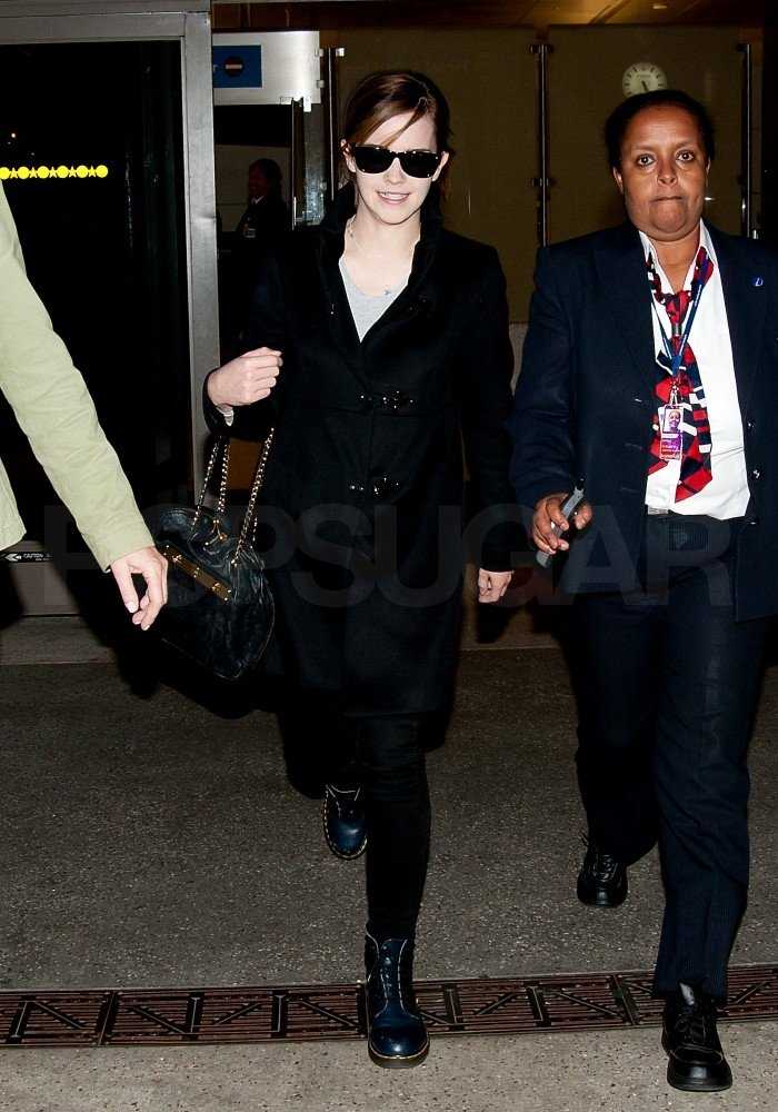 Emma Watson arrived in LA.