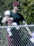 David Beckham with daughter Harper Beckham.