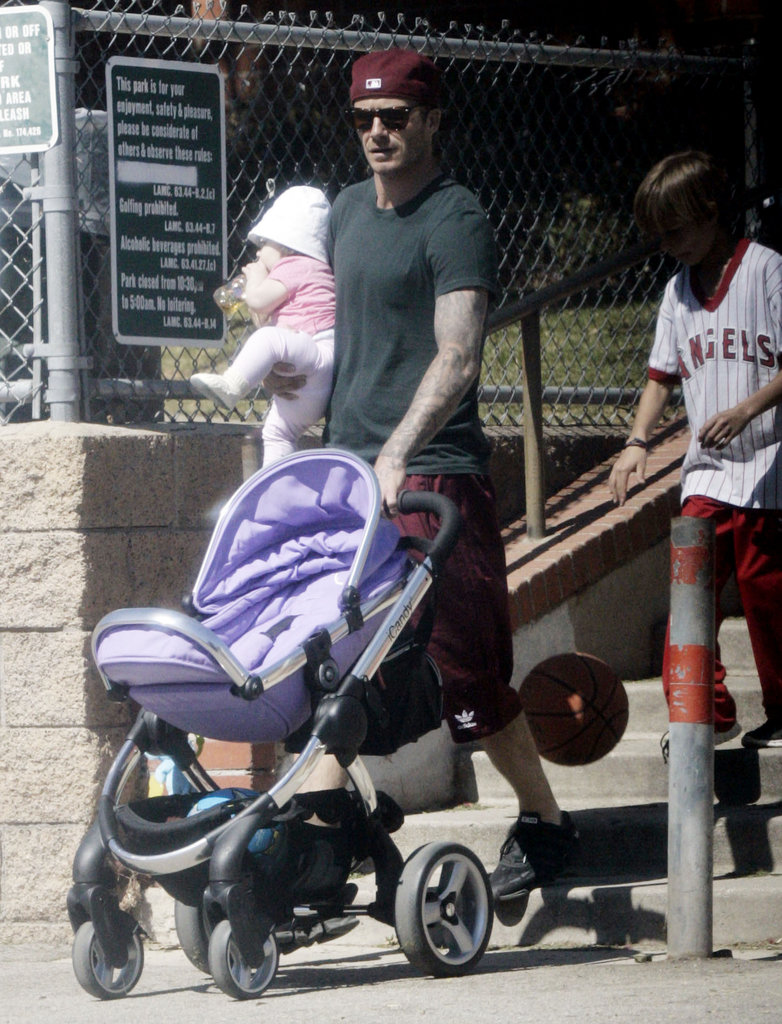 David Beckham spent a sunny LA day with daughter Harper Beckham.