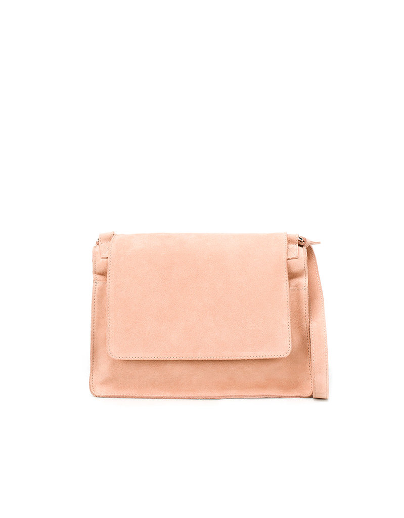 Thanks to the neutral blush pink hue, this messenger bag can take you from the office to the park.  Zara Square Messenger Bag ($90)