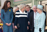 Kate, Camilla, and the queen made their appearance on March 1, St. David's Day.