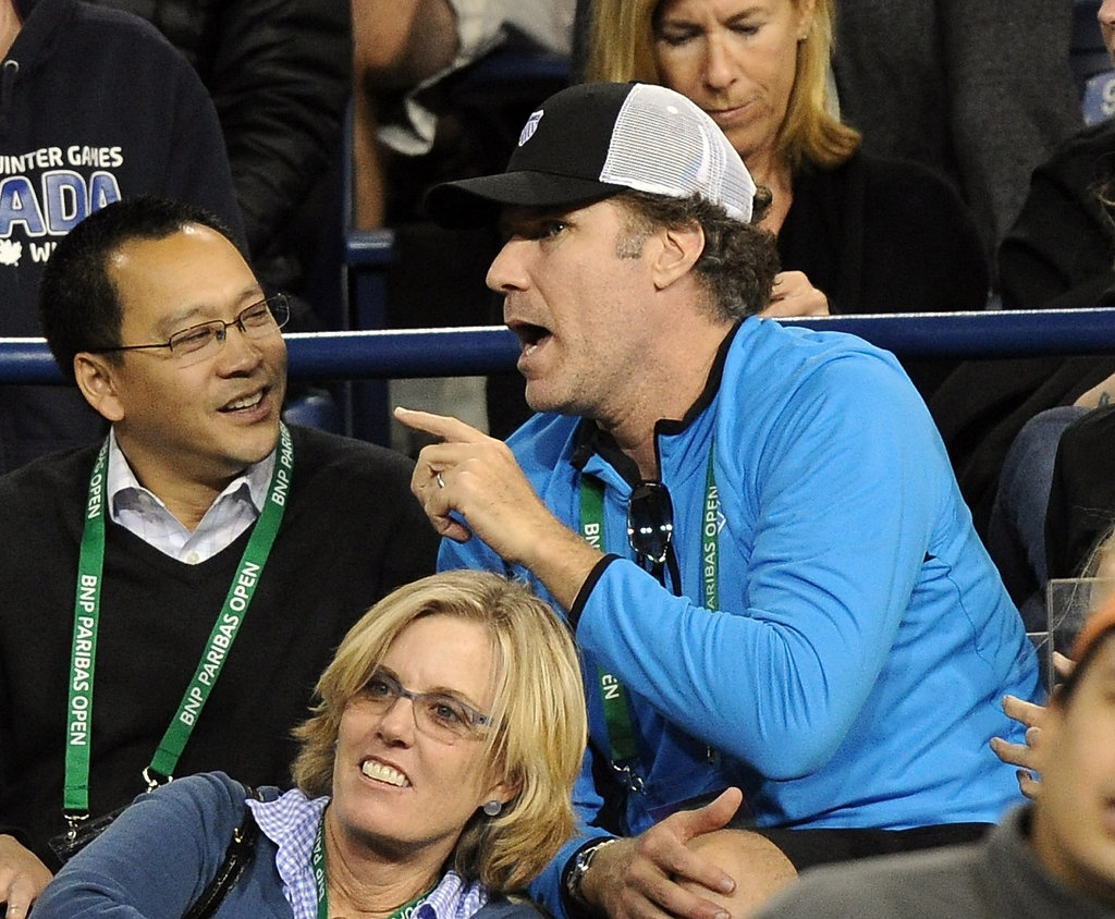 Will Ferrell watched tennis.