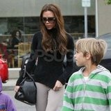 Victoria Beckham strolled with her kids in Santa Monica.