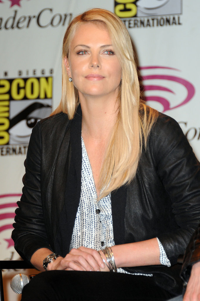 New mom Charlize Theron at WonderCon.