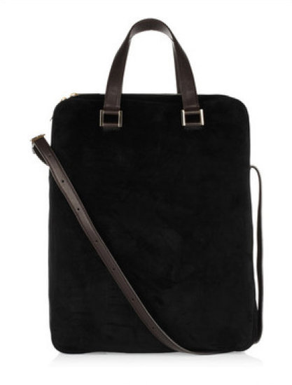 The Row Twin Leather and Suede Laptop Tote ($3,700)