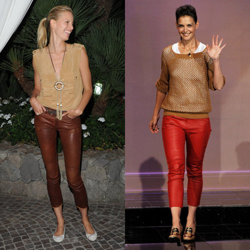 Karolina Kurkova in Leather Pants