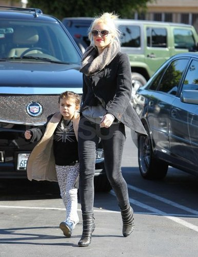 Gwen Stefani Wears Dark Colors