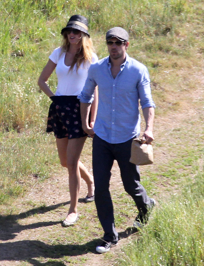 Blake Lively and Ryan Reynolds held hands after a hike.